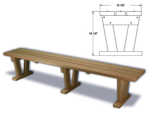 Wide Plastic Bench